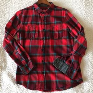 Quiksilver red and grey lined flannel